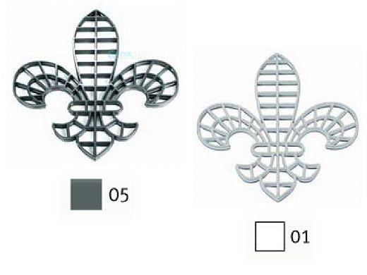 AquaStar Swim Designs Fleur de Lis Stencil Only | White | F1005-01