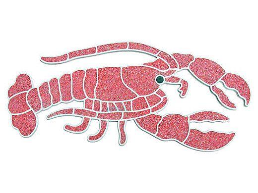 AquaStar Swim Designs Lobster Stencil Only | White | F1006-01