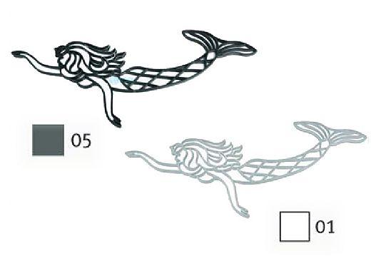 AquaStar Swim Designs Mermaid Stencil Only | White | F1007-01