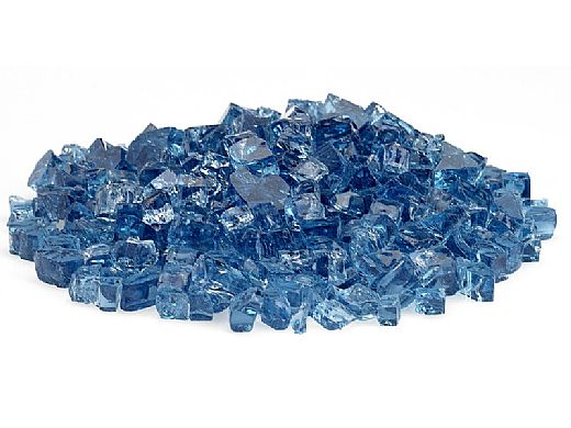 American Fireglass Half Inch Classic Collection | Pacific Blue Fire Glass | 10 Pound Jar | AFF-PABL12-J