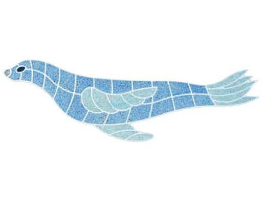 AquaStar Fillable Friends® Sea Lion Stencil Only | White | F1009-01