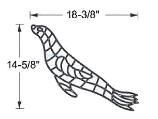 AquaStar Swim Designs Sea Lion Stencil Only | White | F1009-01