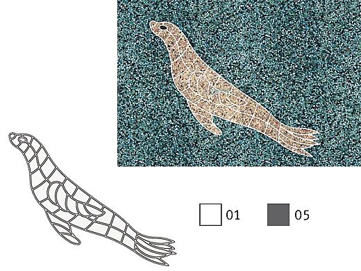 AquaStar Swim Designs Sea Lion Stencil Only   Gray   F1009-05