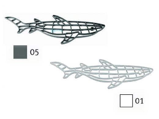 AquaStar Fillable Friends® Shark Stencil Only | White | F1010-01