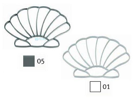 AquaStar Swim Designs Shell Stencil Only | White | F1011-01