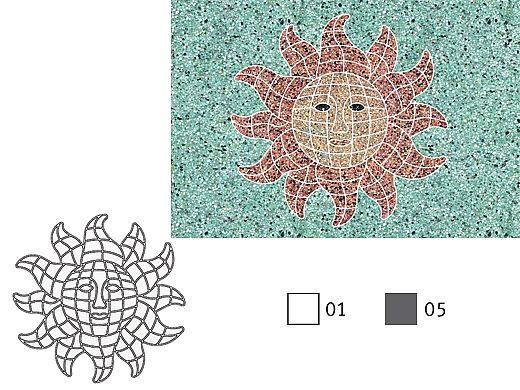 AquaStar Fillable Friends® Sun Stencil Only | Gray | F1014-05
