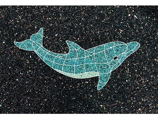 AquaStar Swim Designs Set 1 Large & 1 Medium Dolphin Stencil Only   Gray   F1029-05