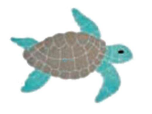 AquaStar Swim Designs Turtle Medium Stencil Only | White | F1023-01