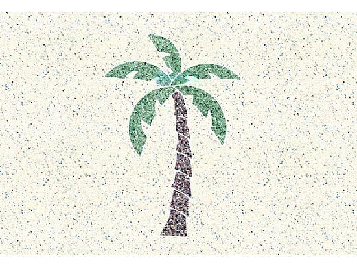 AquaStar Swim Designs Palm Tree Small Stencil Only | Gray | F1026-05