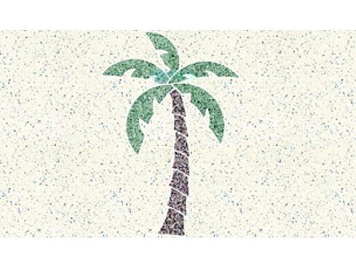 AquaStar Swim Designs Palm Tree Medium Stencil Only   Gray   F1027-05