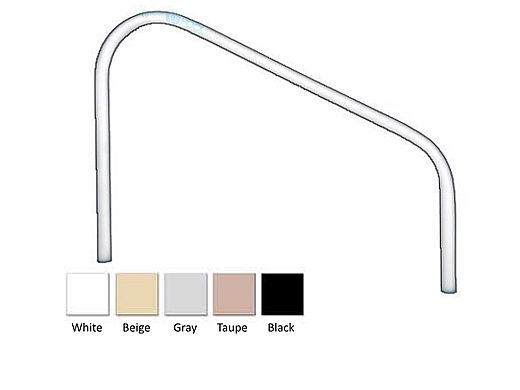 """Saftron Deck Mounted 2-Bend Handrail Pair 