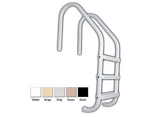 "Saftron Economy 3-Step Ladder | .25"" Thickness 1.90"" OD | 24"" W x 53"" H | White | P-324-L3-W"