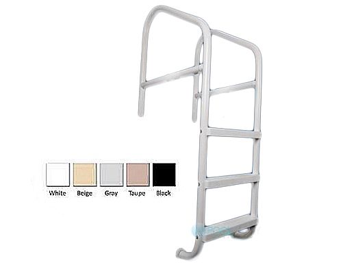 """Saftron Commercial Cross Braced 4-Step Ladder   .25"""" Thickness 1.90"""" OD   24""""W x 79""""H   Taupe   CBL-324-4S-T"""