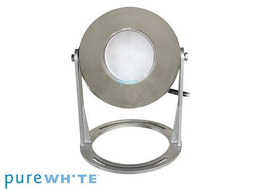 J&J Electronics PureWhite LED Underwater Fountain Luminaire | Base Only No Guard | 120V 30' Cord | LFF-S1L-120-NG-WB-30