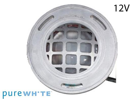J&J Electronics PureWhite LED Underwater Fountain Luminaire | Guard Only No Base | 12V 50' Cord | LFF-S1L-12-WG-NB-50