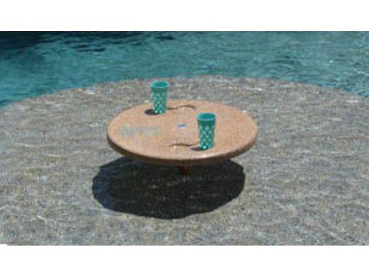 "SR Smith Destination Series 30"" Sun Shelf Table | Retrofit for Existing 1.50"" Anchors | Tan | PL-30 UMB TABLE-51"