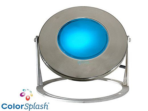 J&J Electronics ColorSplash LED Underwater Fountain Luminaire   Base Only No Guard   120V 50' Cord   LFF-F1C-120-NG-WB-50