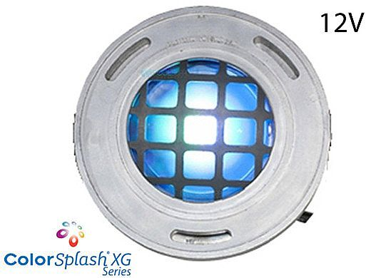 J&J Electronics ColorSplash LED Underwater Fountain Luminaire | With Guard No Base | 12V 50' Cord | LFF-F1C-12-WG-NB-50
