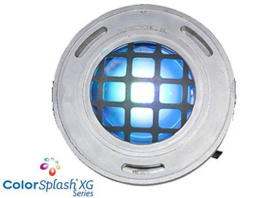 J&J Electronics ColorSplash LED Underwater Fountain Luminaire | With Guard No Base | 120V 100' Cord | LFF-F1C-120-WG-NB-100