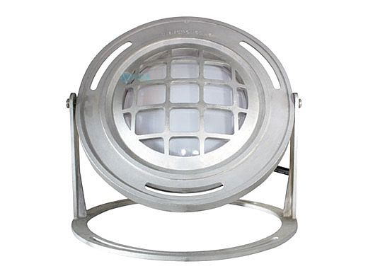 J&J Electronics PureWhite LED Underwater Fountain Luminaire | Base And Guard | 120V 100' Cord | LFF-S1L-120-WG-WB-100