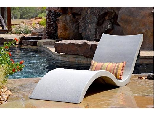 Ledge Lounger In Pool Chaise Granite Gray Pool Supply