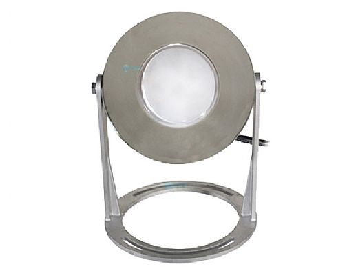 J&J Electronics PureWhite LED Underwater Fountain Luminaire | Base Only No Guard | 120V 50' Cord | LFF-F1L-120-NG-WB-50