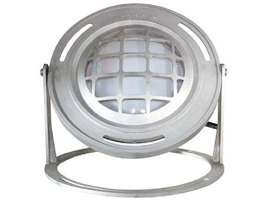 J&J Electronics PureWhite LED Underwater Fountain Luminaire | Base And Guard | 12V 50' Cord | LFF-F1L-12-WG-WB-50