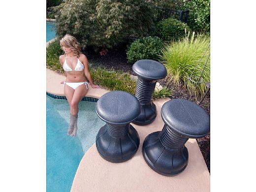 ENVY Pool Products Pool Stool | Black Granite | ENV00307