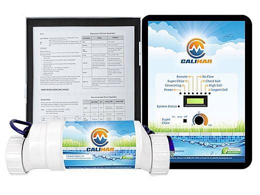 CaliMar® Salt Chlorinator for Inground Pools | Up to 40,000 Gallons | CMARSHA40-3Y