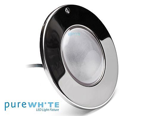 J&J Electronics PureWhite LED Pool Light SwimQuip Series | 120V Equivalent to 500W 100' Cord | LPL-F3W-120-100-PSQ