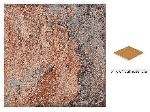 National Pool Tile Gemstone 6 x 6 Single Bullnose Pool Tile | Oak | GMS-OAK SBN