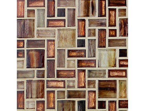 National Pool Tile Cosmopolitan Mosaic Glass Tile | Copper | COS-BARCELONA