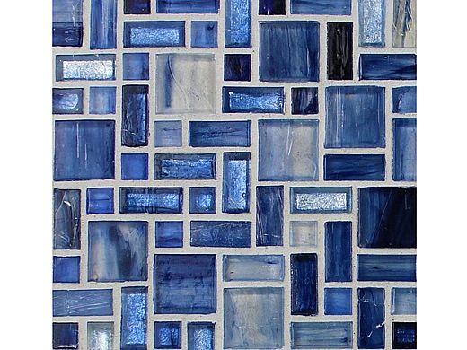 National Pool Tile Cosmopolitan Mosaic Glass Tile   Light Blue   COS-SYDNEY