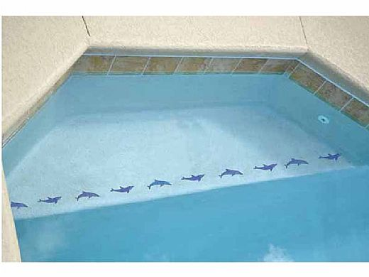 """Artistry In Mosaics Step Markers Dolphin Blue Mosaic   3"""" x 24""""   SMDOLBLU"""