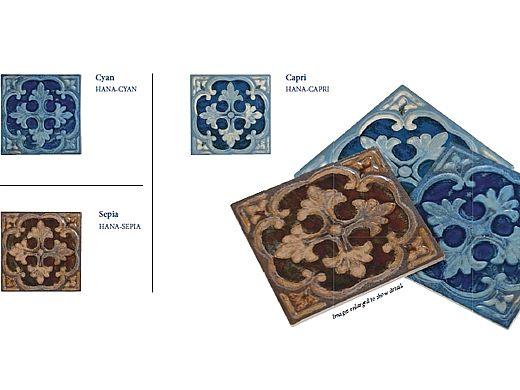 National Pool Tile Hana 6x6 Series | Cyan | HANA-CYAN