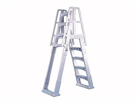 VinlyWorks Premium A-Frame Above Ground Pool Ladder | Taupe | SLA-T