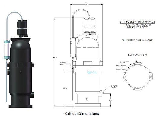 DEL MDV XL Mixing De-Gas Vessel for DEL AOP Systems | MDV-100
