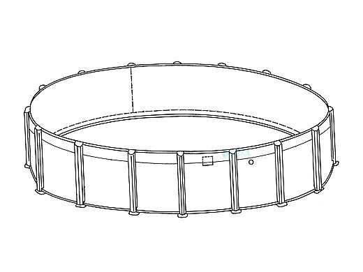 """Oxford 16' Round Resin 52"""" Sub-Assy for CaliMar® Above Ground Pools   5-4916-138-52"""
