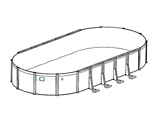 """Sierra Nevada 12' x 20' Oval Resin 52"""" Sub-Assy for CaliMar® Above Ground Pools 