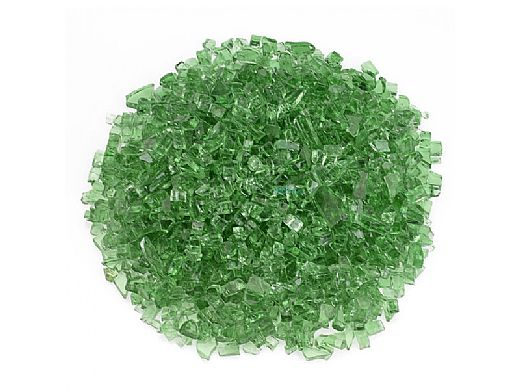 American Fireglass One Fourth Inch Classic Collection | Evergreen Fire Glass | 10 Pound Jar | AFF-EVGR-J
