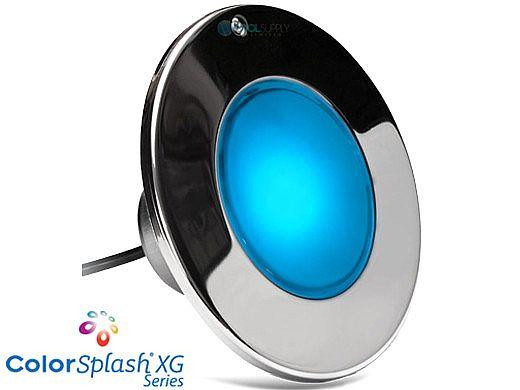 J&J Electronics ColorSplash XG Series Color LED Pool Light SwimQuip Version | 120V Equivalent 33W 30' Cord | LPL-F2C-120-30-PSQ