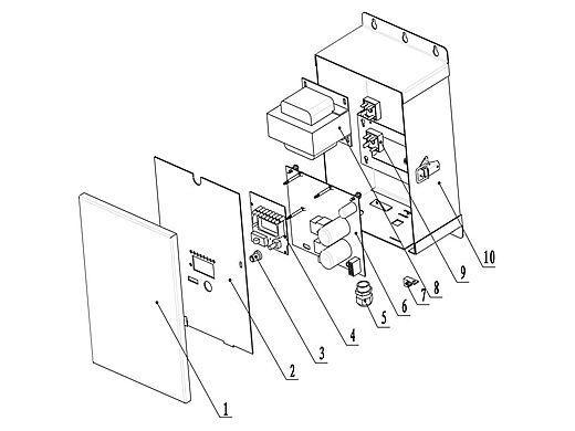 CaliMar® Salt Chlorine Generator Printed Circuit Board | CMARSHAPCB2