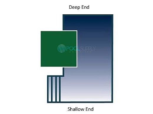 Arctic Armor 20-Year Super Mesh Left End Step Safety Cover | Rectangle 12' x 20' Green | WS7023G