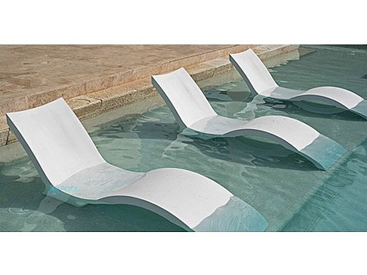 Ledge Lounger Signature Collection Chaise Deep | White | LL-SG-CD-W