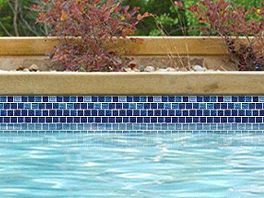 National Pool Tile Aquascapes 1x1 Glass Tile   Sapphire   OCN-SAPPHIRE