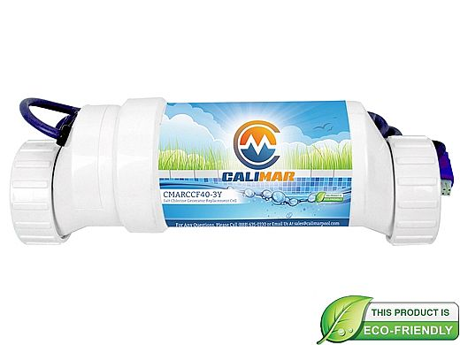 CaliMar Replacement Cell for CaliMar Salt Chlorine Generator | Up to 40,000 Gallons | CMARCCF40-2Y