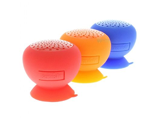 AudioBomb Squish Water-Resistant Bluetooth Speaker   Red   12145