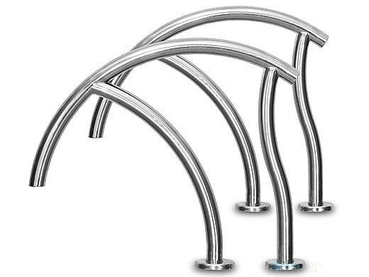 "Inter-Fab Designer Series Economy Grab Rail Pair | 1.90"" x .065"" Thickness 304 Stainless Steel | DR-G3DE065"
