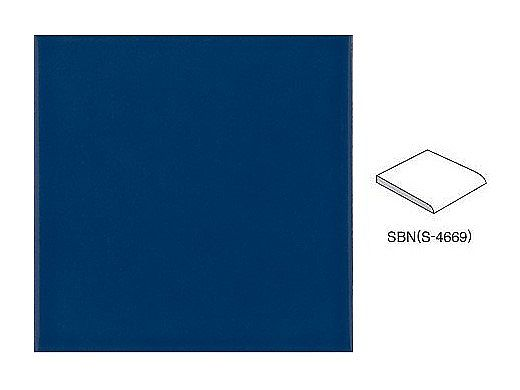 National Pool Tile 6x6 Solid Single Bullnose Tile | Glossy Navy - SBN | M6766PG SBN