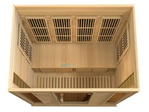 Golden Designs Maxxus 4-Person Low EMF FAR Infrared Carbon Sauna | MX-K406-01